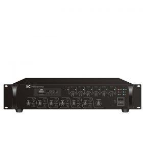 ITC TI-1206S6 Zones Mixer Amplifier with MP3 ITC TI-1206S มิกเซอร์แอมป์ 120 วัตต์ MONO 4 MIC ITC TI-1206S Mixer Amplifier