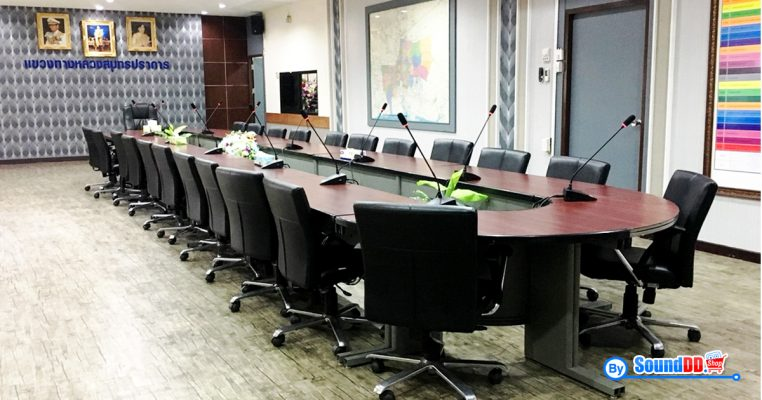ผลงานการติดตั้ง ระบบเสียงห้องประชุม แขวงทางหลวง จังหวัดสมุทรปราการ รับบริการออกแบบ และติดตั้ง ระบบเสียง และระบบภาพ เช่น ระบบเสียงห้องประชุม