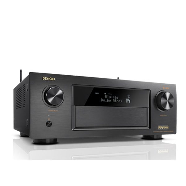 AV SURROUND RECEIVER WITH HEOS MUSIC STREAMING TECHNOLOGY DENON AVR-X4400H AV SURROUND RECEIVER 9.2 ชาแนล 9x200 วัตต์ มี HEOS สตรีมมิ่งเพลง DENON AVR-X4400H