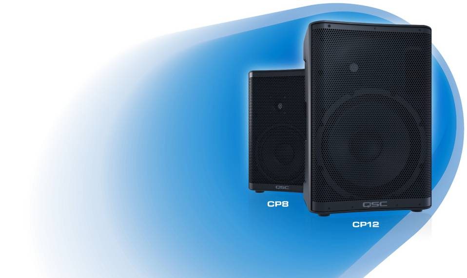 QSC CP12 12-Inch Compact Powered Loudspeaker QSC CP12 ตู้ลำโพงมีแอมป์ในตัว 2 ทาง ขนาด 12นิ้ว คลาส D 1000 วัตต์ QSC CP12ลำโพงซับ