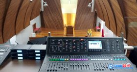 ผลงานการติดตั้ง ระบบเสียงสำหรับศาสนสถาน โบสพระคุณ รับบริการออกแบบ และติดตั้ง ระบบเสียง และระบบภาพ เช่น ระบบเสียงห้องประชุม
