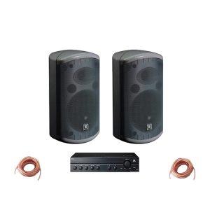 ชุดเครื่องเสียง Background Music สำหรับร้านอาหาร,ร้านกาแฟ Set-2 ประกอบด้วยTURBOSOUND IMPACT-55T+TOA A-2120DCompact Passive 2-Way Loudspeaker Black