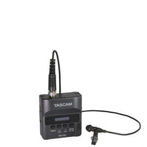 TASCAM DR-10Lmicro linear PCM recorder TASCAM DR-10L เครื่องบันทึกเสียงแบบพกพาสำหรับงานนอกสถานที่ขนาดเล็กกะทัดรัด พร้อมไมค์แบบหนีบปกเสื้อTASCAM DR-10L