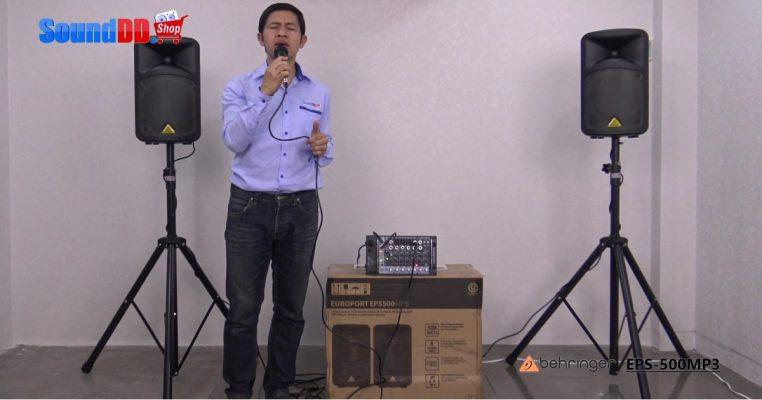 รีวิว BEHRINGER EPS 500MP3 ชุดเครื่องเสียงเคลื่อนที่ 500 วัตต์ 8 แชนแนล พร้อมเครื่องเล่นเพลง MP3 ใช้งานง่าย พกพาสะดวกสบาย พร้อมลุยงานไปได้ทุกงานกิจกรรม