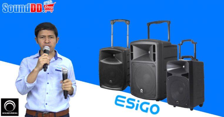 รีวิว ESiGO Series ตู้ลำโพงเคลื่อนที่ ลากจูง จาก SOUNDVISION คุณภาพสูง มีแบตเตอร์รี่ในตัว เหมาะสำหรับใช้งานนอกสถานที่ และมีไมค์ลอยมาให้พร้อมใช้งานอีก 2 ตัว