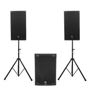 "SOUNDVISION TLA-15S + VS12-8 ชุดเครื่องเสียง แบบเคลื่อนย้าย ตู้ซัพวูฟเฟอร์ 15"" 1000 วัตต์ พร้อมตู้ลำโพง 12"" สอบถามได้ที่แอดไลน์ไอดี @sounddd.shop"