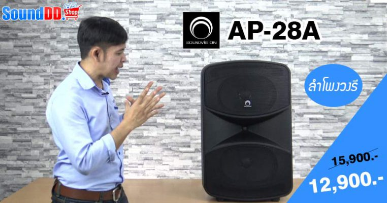 รีวิว SOUNDVISION AP-28A ดอกวงรี!! (8″ x 12″) จำนวน 2 ดอก 800W
