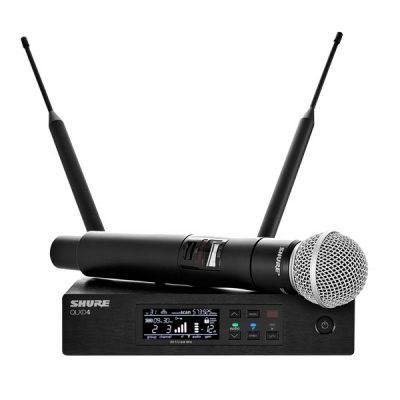 Digital Handheld Wireless Microphone System SHURE QLXD24A/SM58-V52 ชุดไมค์ลอยมือถือเดี่ยว ย่าน VHF 174 – 210MHz ไมโครโฟนไร้สาย ระบบดิจิตอล