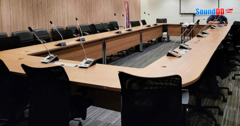 ผลงานติดตั้ง ระบบเสียงห้องประชุมที่ ธนาคาร เมกะ สากลพาณิชย์